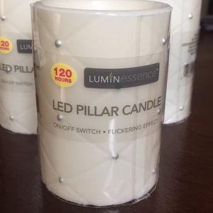 Other - NWOT Set of 3 LED Pillar Candles